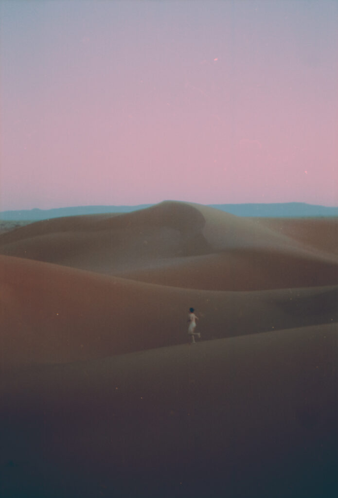 Chris in the Sahara desert, 2019