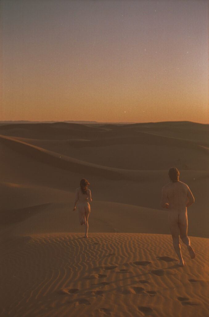 Emily and Chris in the Sahara desert, 2019