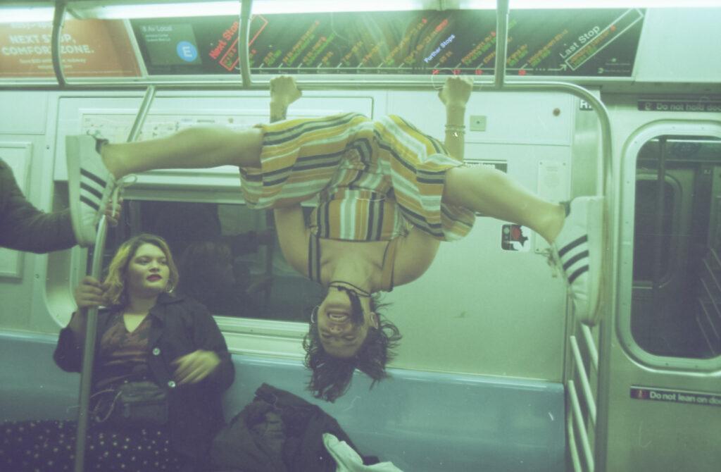 Diana and Kim on the subway, New York, 2018